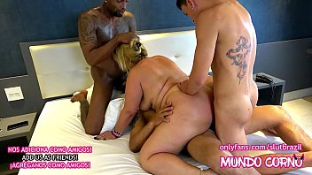 ANAL - MATURE WIFE DOING CUCKOLD HUSBAND WITH THREE MALES