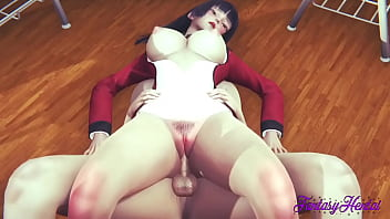 Kakegurui Hentai - Jabami Boobjob With Cum In Her Face And Fucked With Creampie In Her Pussy