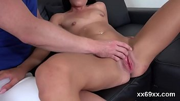 Guy assists with hymen examination and pounding of virgin cutie