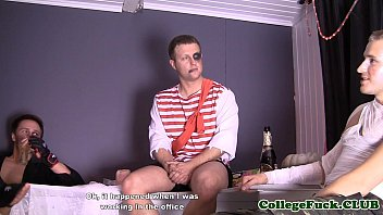 Euro teens drilled and cummed on at orgy