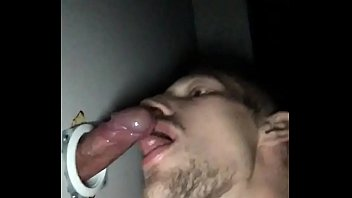 Son blow Daddy in Glory Hole amateur