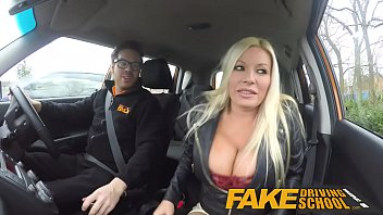 Fake Driving School squirting orgasm busty milf takes creampie after lesson porno izle