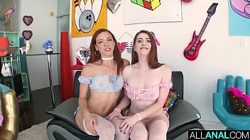 ALL ANAL Redheads Aria and Luna sloppy anal threesome