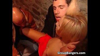Horny Blonde Slut Getting Destroyed