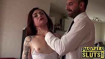18yo slut Chloe Carter choked with hands and big dick