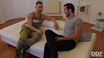 Soldier & husband double penetrate horny wife Alexa Tomas until she screams thumbnail