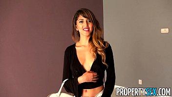PropertySex - Super hot Latina fucks landlord at rental showing