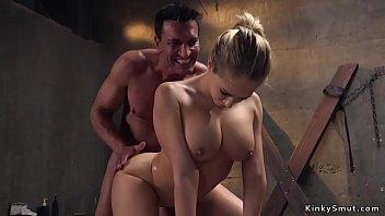 Border officer anal bangs busty blonde