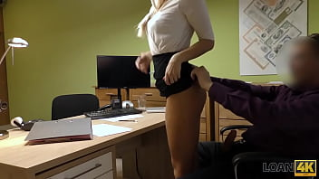 LOAN4K. Teen girl undresses in loan office for necessary cash