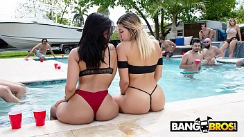 Bikini online games - Bangbros - pool side fuck fest with the notorious fuck team five