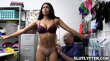 Officer Wrex commands the shoplifter besties to suck his cock