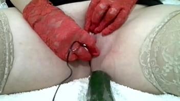 Nadia Italian Sex Slaves Fuck With A Cucumber 8 Min