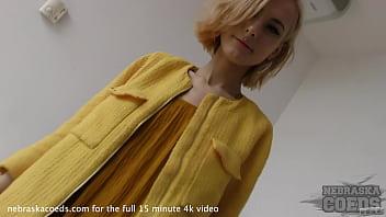 fresh blonde 18yo poppy first time naked video fingering lipstick dildo to orgasm 6 min