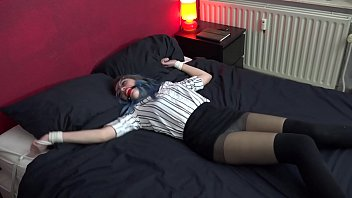 Teen Luna Grey  Spread Eagle Tied And Ballgagg ed And Ballgagged