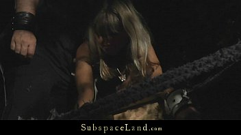 Sexy blonde bound and hard fucked in the forest Vorschaubild