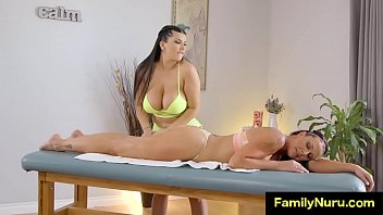 Two sexy stepsisters erotic lesbian massage