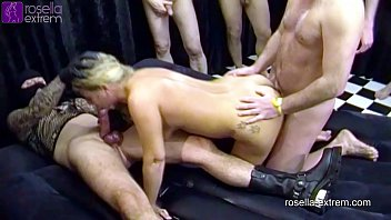 RosellaExtrem in an b. Cum and Piss GangBang, dirty used! Part 3