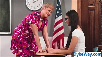 Teacher and student lesbian fuck
