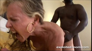 Old milf videos Blonde milf gets her back blown out by a big black cock interracial video