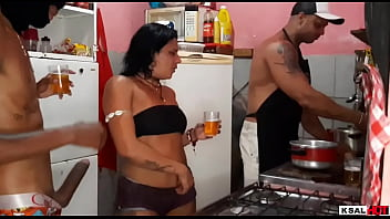 While Mike Hot is in the Kitchen making food, Danny Hot's bitch is getting fucked hard by the gifted and makes her come a lot