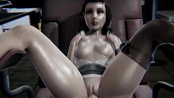Bioshock - Elizabeth gets creampied - 3D Porn 19 min