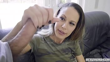 Stepson Whips Out His Big Cock And Show It To His Stepmom