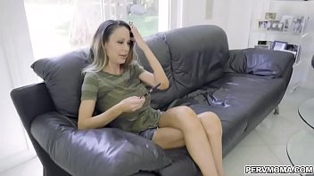 Stepson whips out his big cock and show it to his stepmom 7 min