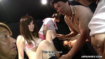 Yuri Sakura And Her Hostess Friends Suck And Tug Cocks
