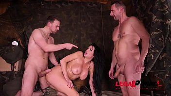 Deep & hard double penetration at the army base gives Veronica Avluv orgasms GP452