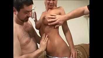This Blonde Babe Experience Two Cocks In Her