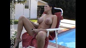 Girl walks around fully nude