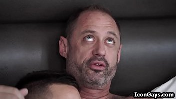 Gay father son porn vids - Son fucks his step daddy before leaving to college