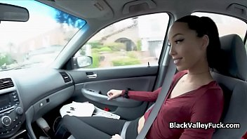 Free porn videos tour - Ebony teen cutie fucks stranger for free ride