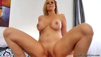Big Boobed Blonde Step Mommy Julia Ann Milks A Young Dick In POV!
