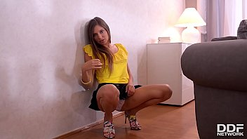 Mind-blowing and barely legal teen Talia Mint rubs herself until she cums