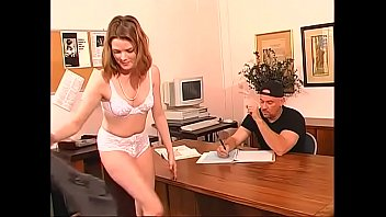Kinky brunette lady Keiko gets her asshole fucked by big dick in the office