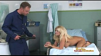 Naturally busty blonde gets fucked by a horny police officer