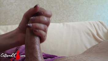MILF Blowjob and Handjob Big Cock - Cumshot Closeup