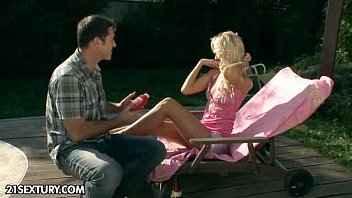 Flirt at the poolside
