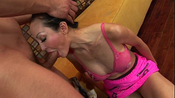 Busty Japanese hottie moans while her tender ass is drilled thumbnail