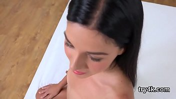 Lovely girl sucks penis in pov and gets wet cunt poked