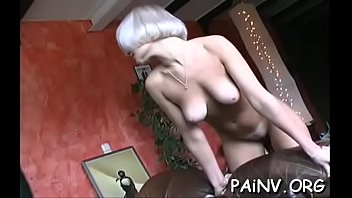 Hawt action with pudgy bitch who gets into her domina outfit