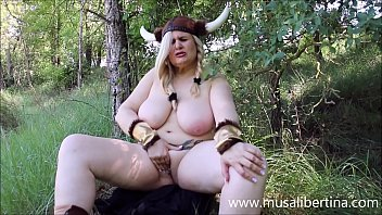 Horny viking MILF hunting in the forest by Musa Libertina