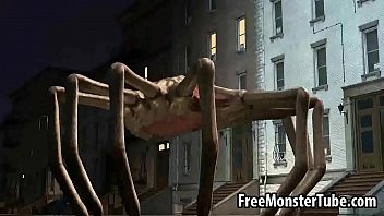 3D Babe Gets Double Teamed By Two Alien Spidersfence-High 1