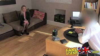 FakeAgentUK Stocking clad posh MILF willing to try it all on the casting couch 10 min