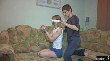 Blindfolded Real Gf Punished For Cheating
