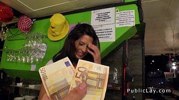 Waitress fucking in public bar for cash 7 min