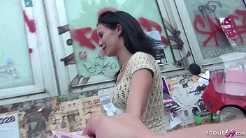 GERMAN SCOUT - 18yr OLD SMALL TEEN SEDUCE TO FUCK AT PUBLIC CASTING BY HUGE DICK STRANGER 13 min