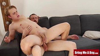 BRINGMEABOY Daddy Eric Lenn Destroys Blond Twink Bareback
