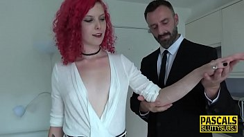 Clothespinned pussy sub